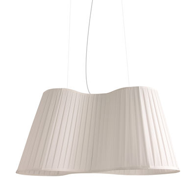 Lighting - Pendant Lighting - La Suspension Pendant - L 75 cm by Dix Heures Dix - White - Polyester fabric, Steel wire