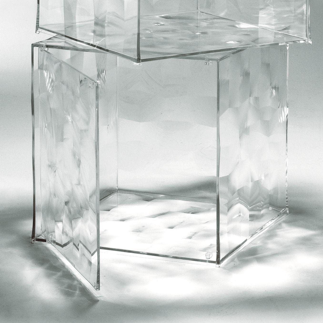 Arredamento - Tavolini  - Portaoggetti Optic - Con porta di Kartell - Cristallo trasparente - PMMA