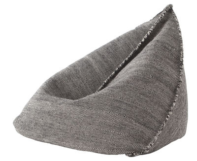 Furniture - Poufs & Floor Cushions - Sail Pouf - / 110 x 100 cm - H 120 cm by Gan - Black - Polystyrene balls, Virgin wool