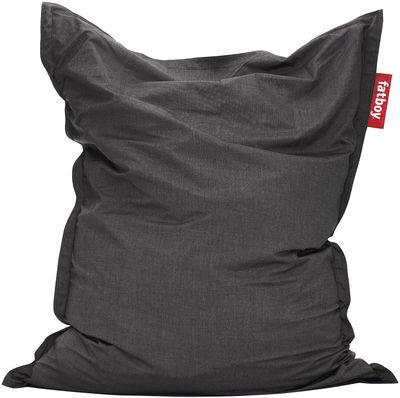 Pouf The Original Outdoor / Pour l'extérieur - Fatboy Larg 140 cm x H 180 cm gris foncé en tissu