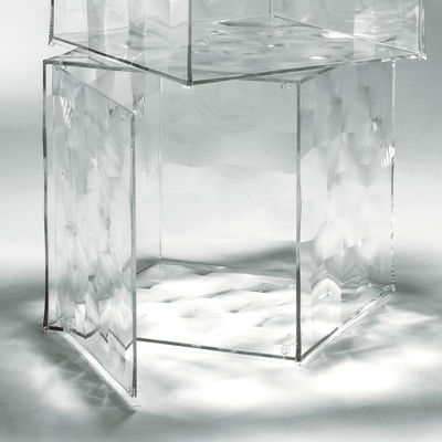 Mobilier - Tables basses - Rangement Optic avec porte - Kartell - Cristal transparent - PMMA