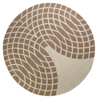 Furniture - Carpets - Grande Rug - Ø 220 cm - Panton 1965 - Web exclusivity by Verpan - Brown & Sand - Wool
