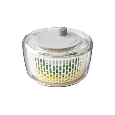 Kitchenware - Kitchen Equipment - Multi-Prep Salad preparation set - / 4-in-1: spinner, spiraliser, slicer and grater by Joseph Joseph - Transparent / green & yellow - Plastic material, Stainless steel