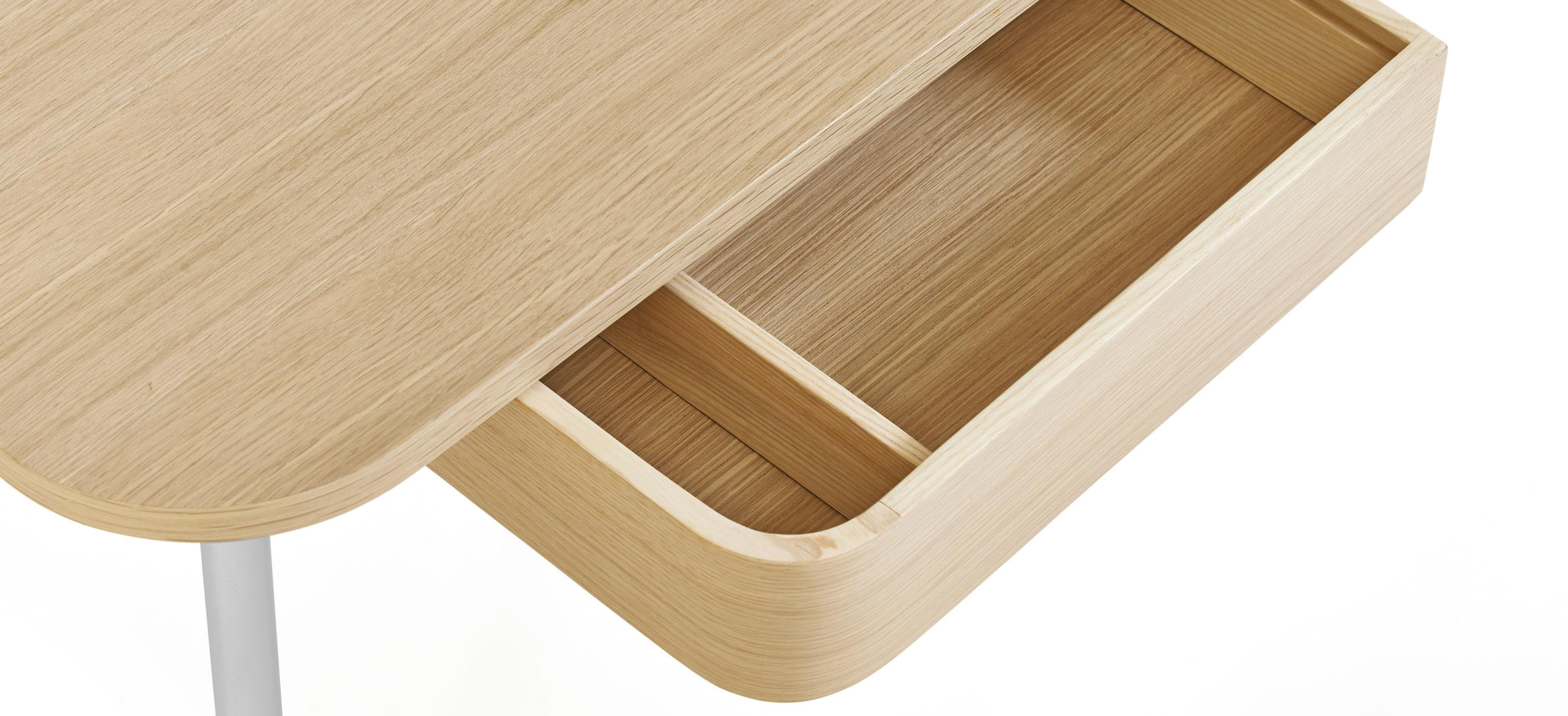 victor schreibtisch hellgrau holz natur by hart made in design. Black Bedroom Furniture Sets. Home Design Ideas