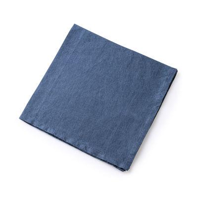 Serviette de table / 50 x 50 cm - Lin traité TEFLON®anti-tache - Au Printemps Paris bleu en tissu