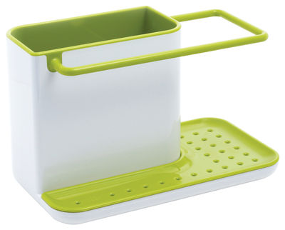 Kitchenware - Kitchen Sink Accessories - Caddy Sink area organiser - Storage set for sink by Joseph Joseph - White & Green - ABS