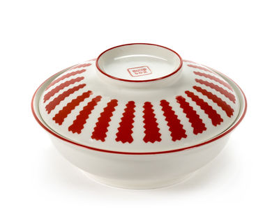 Tableware - Bowls - Soup bowl - / With lid by Serax - Red & white - China