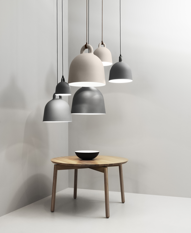 suspension bell large 55 cm blanc mat int blanc normann copenhagen. Black Bedroom Furniture Sets. Home Design Ideas