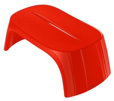 Table basse Amélie / Banc - Version laquée - L 108 cm - Slide rouge en matière plastique