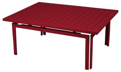 Table basse Costa / Aluminium - 100 x 80 cm - Fermob piment en métal