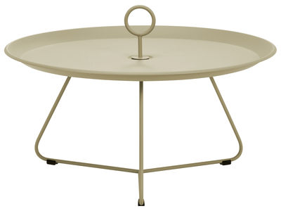 Table basse Eyelet Large / Ø 70 x H 35 cm - Houe khaki en métal