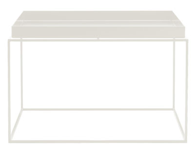 Table basse Tray H 35 cm / 60 x 60 cm - Carré - Hay blanc en métal