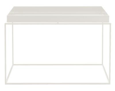 Table basse Tray H 35 cm / 60 x 60 cm - Carré - Hay blanc en métal