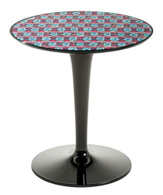 Arredamento - Tavolini  - Tavolino d'appoggio Tip Top La Double J - / Piano PMMA di Kartell - Pic-nic / Piede nero - PMMA