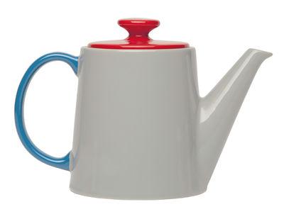 Tavola - Caffè - Teiera My Janse+co / Porcelana - 1.14 L - Serax - Grigio, Rosso & blu - Porcellana