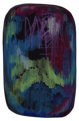 Dekoration - Teppiche - Scribble Teppich / 300 x 200 cm - Moooi Carpets - Schwarz, grün, blau - Polyamid