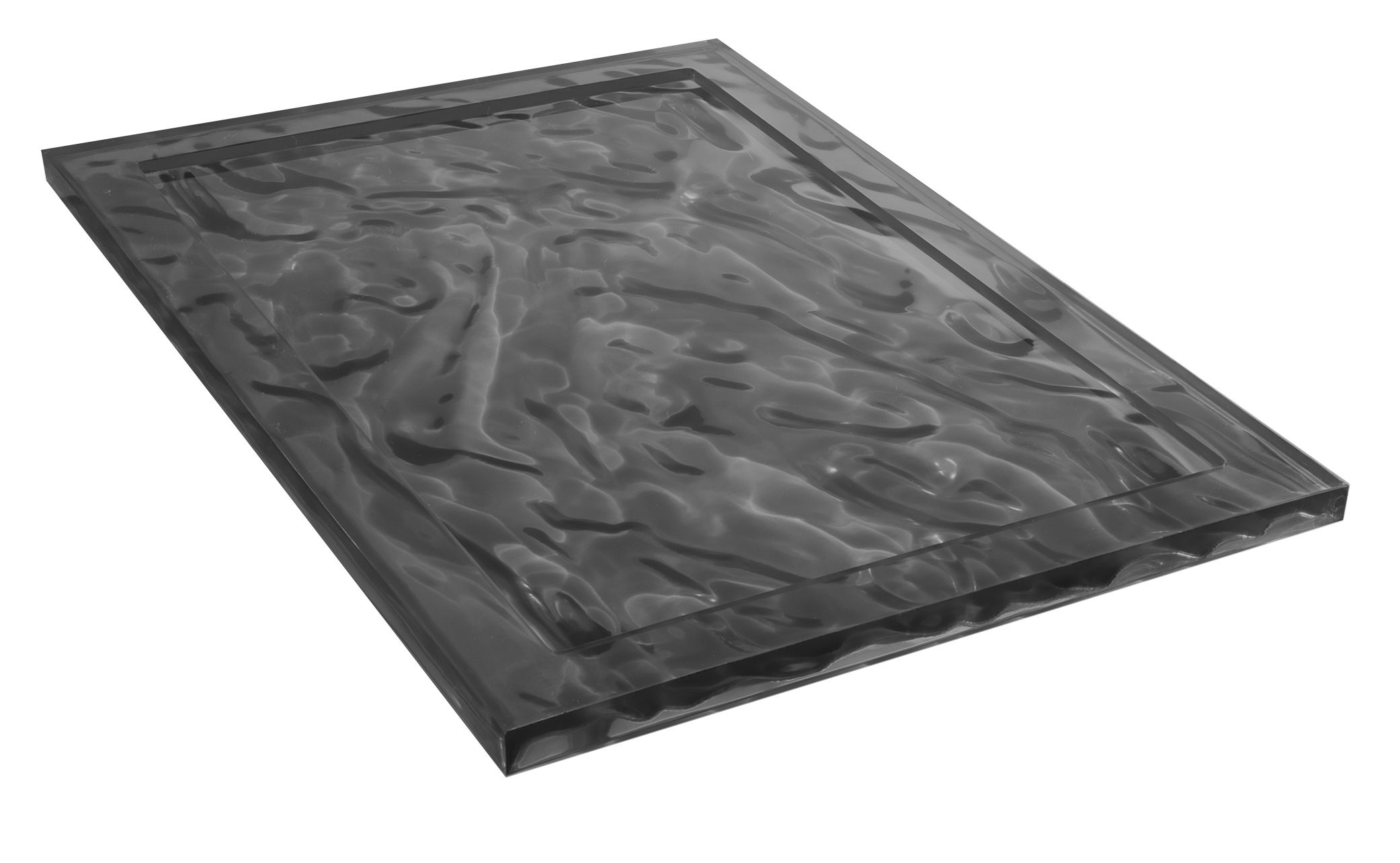 Tableware - Trays - Dune Small Tray - 46 x 32 cm by Kartell - Smoked - Technopolymer