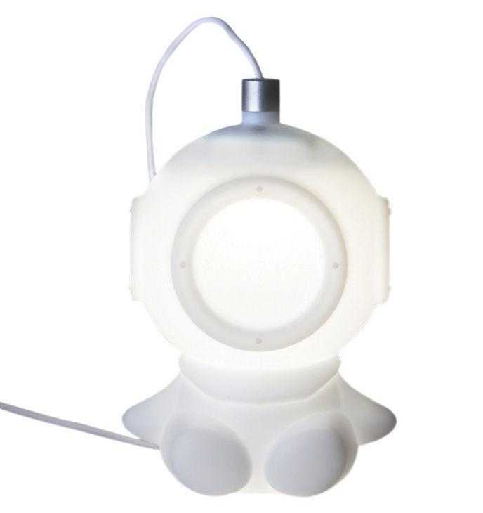 Déco - Pour les enfants - Veilleuse Lightdiver LED / Branchement USB - Pa Design - Blanc - Silicone alimentaire