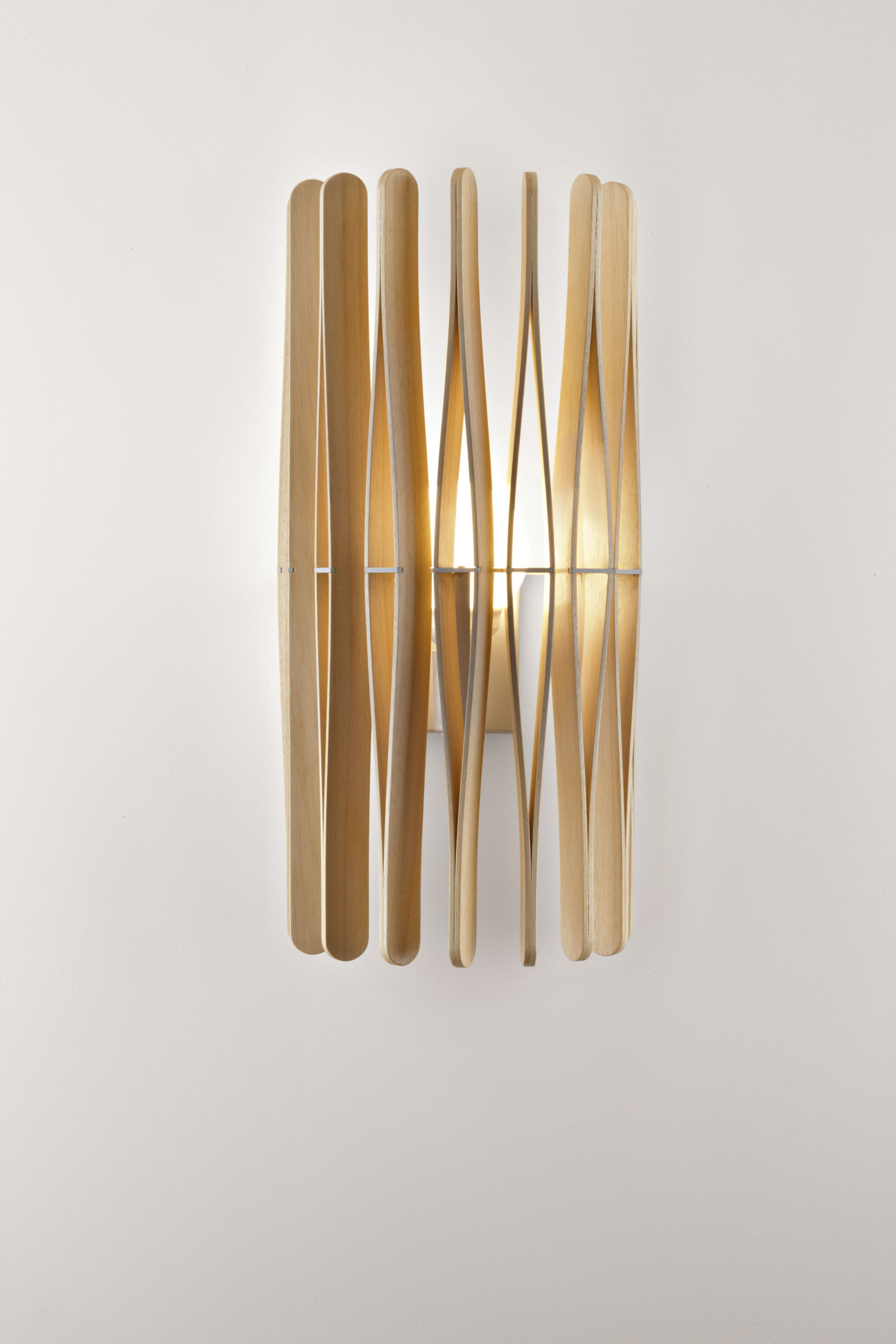 Fabbian Stick Wall light - Natural wood | Made In Design UK