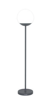 Lighting - Floor lamps - Mooon! LED Wireless floor lamp - / wireless - H 134 cm by Fermob - Storm grey - Aluminium, Polythene