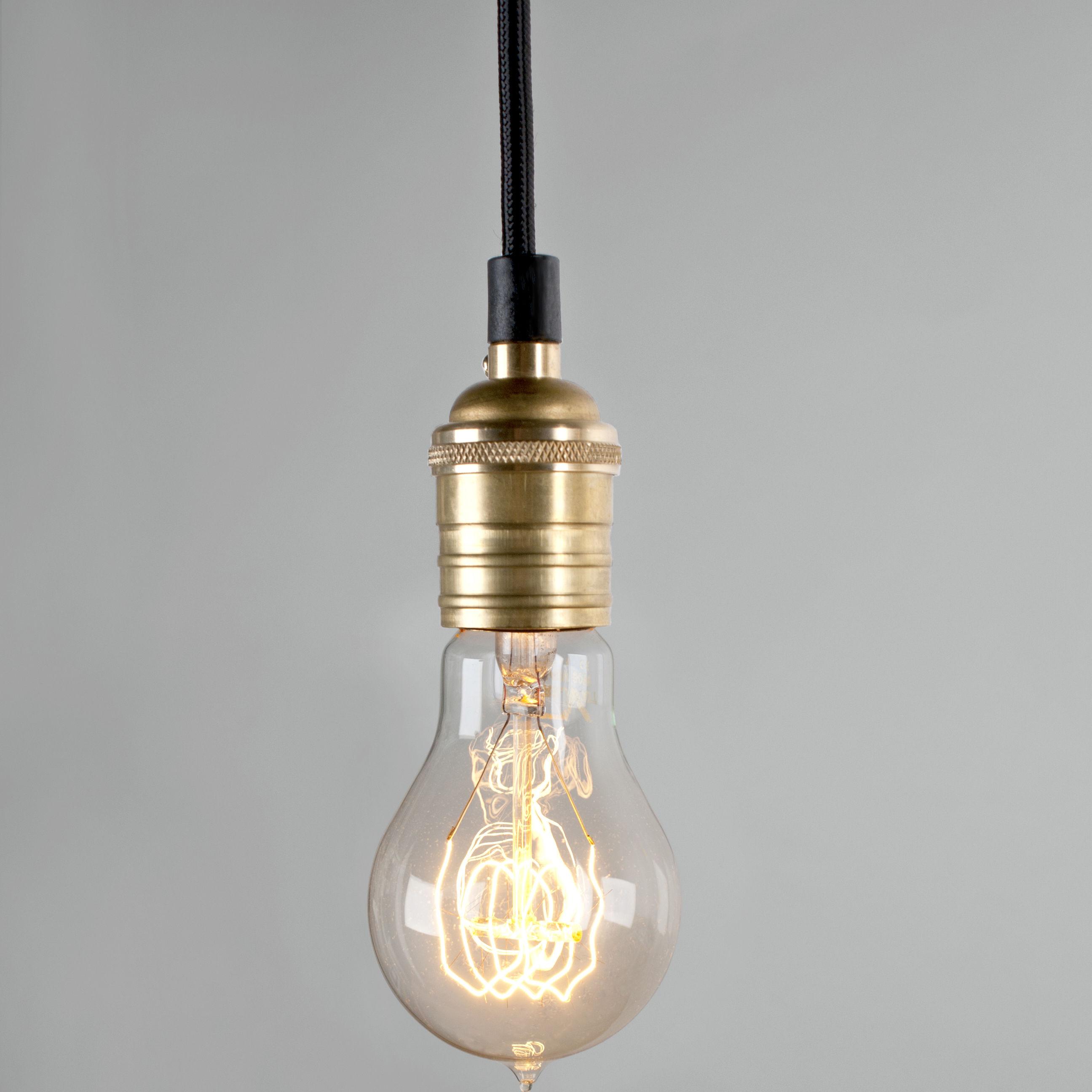 ampoule incandescente filament e27 40w transparent pop corn made in design. Black Bedroom Furniture Sets. Home Design Ideas