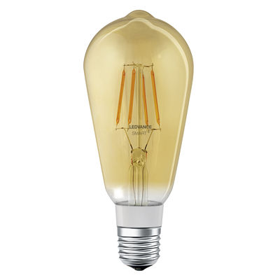 Luminaire - Ampoules et accessoires - Ampoule LED E27 connectée / Smart+ - Filaments Edison 5,5W=45W - Ledvance - Or - Verre