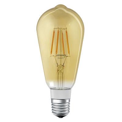Illuminazione - Lampadine e Accessori - Lampadina LED E27 connessa - / Smart+ - Incandescenza Edison 5,5W=45W di Ledvance - Oro - Vetro