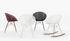 Smatrik Armchair - / Plastic seat & metal legs by Kartell