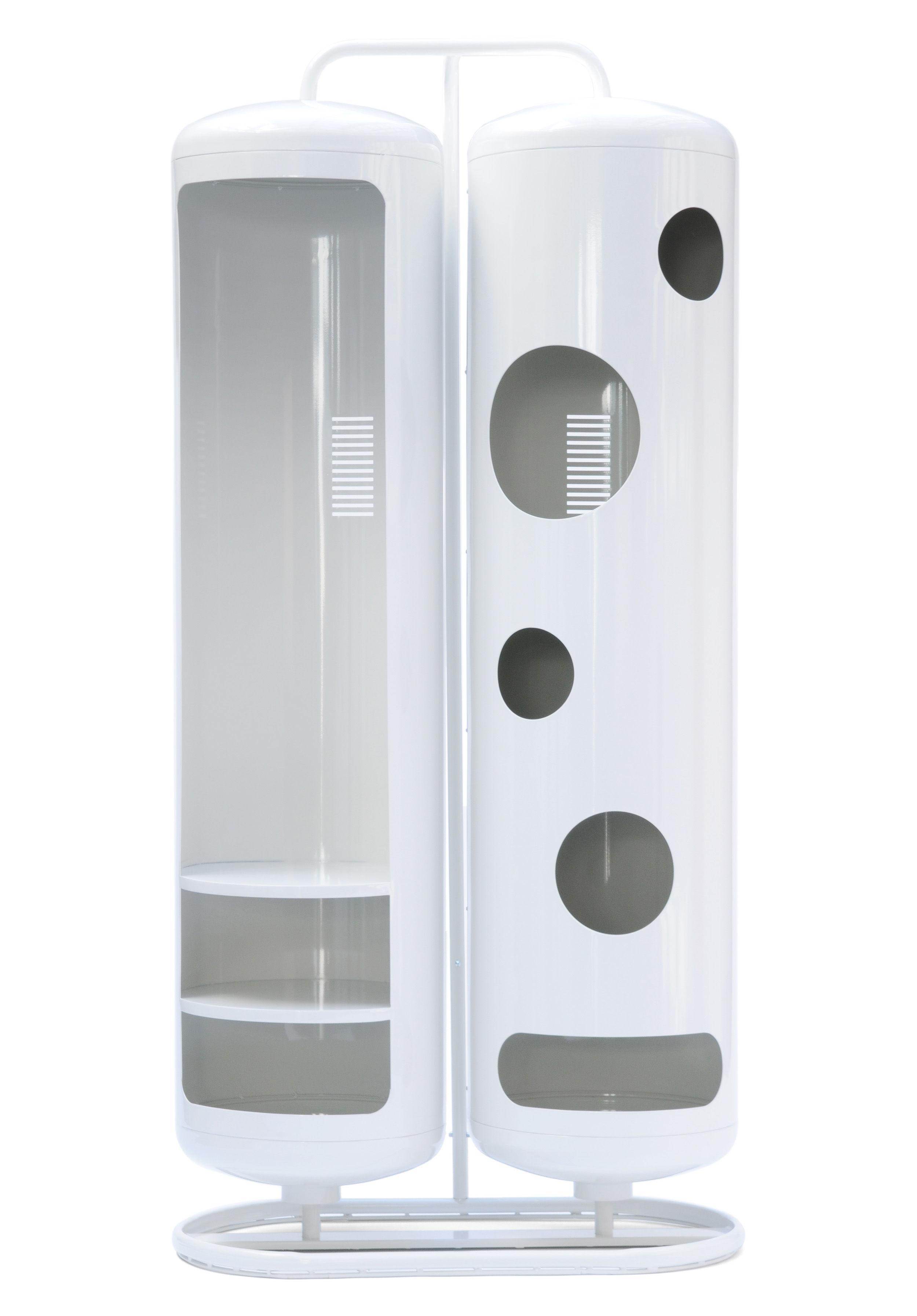 Mobilier - Commodes, buffets & armoires - Armoire Cylindres Bi - Tolix - Blanc - Acier recyclé laqué