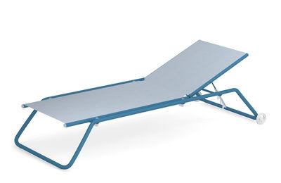 Bain de soleil multiposition Snooze / Empilable - Roulettes - Emu bleu en tissu