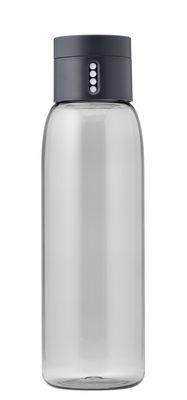 Tavola - Caraffe e Decantatori - Borraccia Dot / Tappo intelligente - 600 ml - Joseph Joseph - Grigio - Plastica ecologica