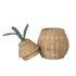 Cestino Pear Small - / Vimini - Ø 19 x H 30 cm di Ferm Living