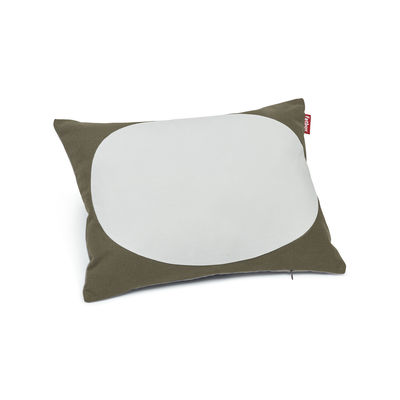 Coussin Pop Pillow / Coton - 50 x 37.5 cm - Fatboy bleu clair,kaki,bleu-gris en tissu