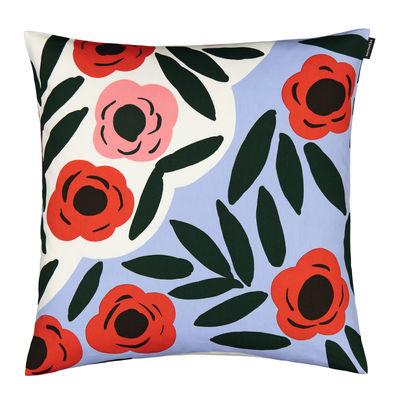 Decoration - Cushions & Poufs - Ruukku Cushion cover - / 50 x 50 cm by Marimekko - Ruukku / Light blue, red, dark green - Cotton