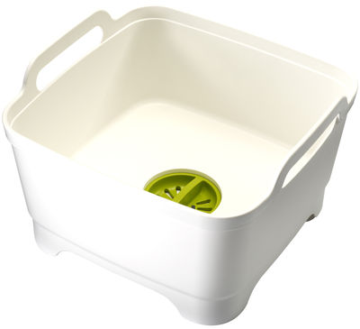 Kitchenware - Kitchen Sink Accessories - Wash&Drain Dishwashing bowl by Joseph Joseph - White / Green - Polypropylene