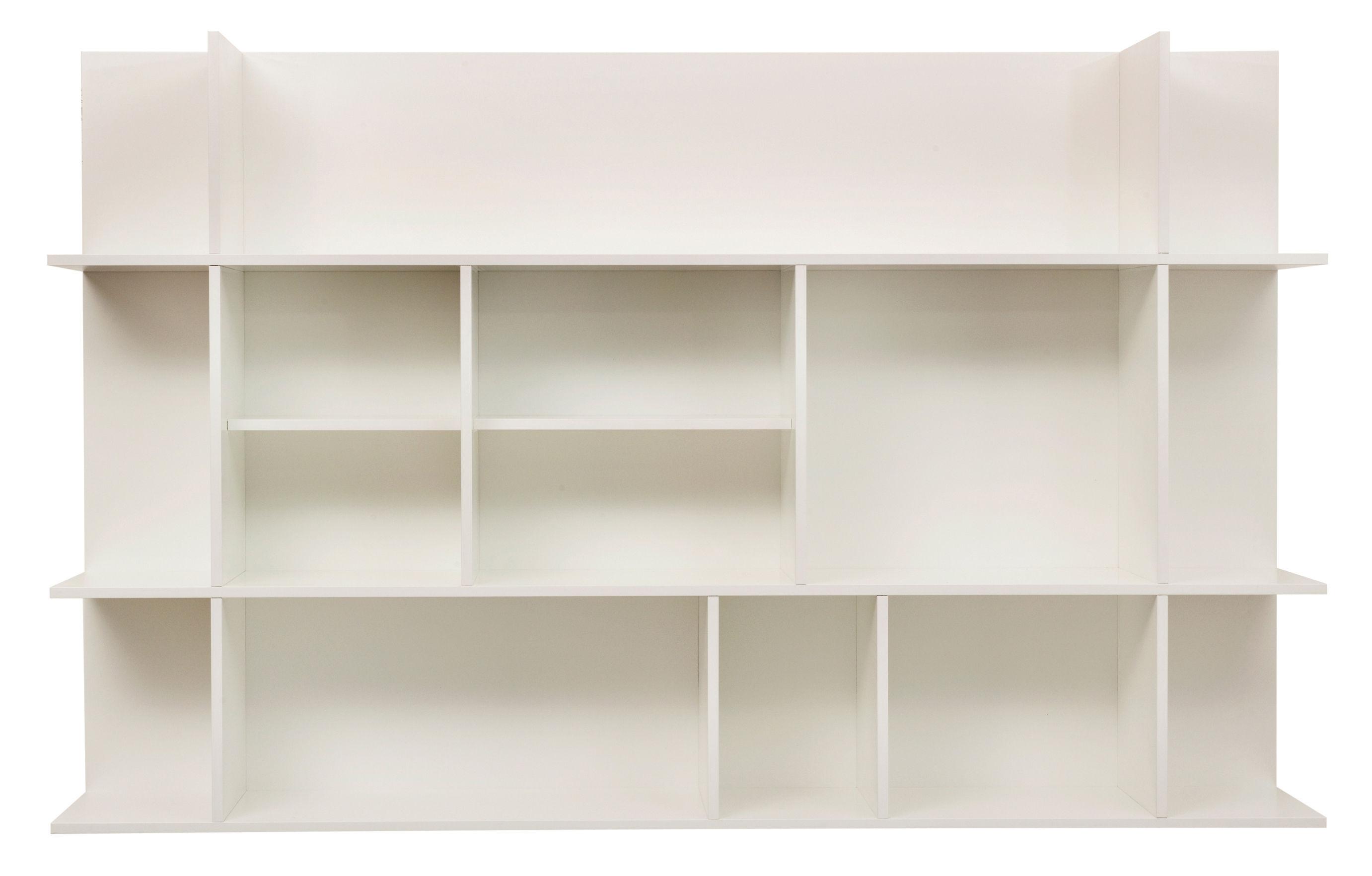 Mobilier - Etagères & bibliothèques - Etagère Golden Ratio Small / Murale - L 120 x H 75 cm - POP UP HOME - Blanc mat - Aggloméré peint