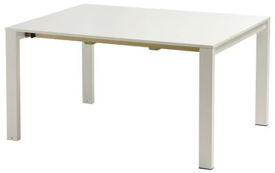 Outdoor - Garden Tables - Round Extending table - L 160 to 268 cm by Emu - Matt white - Painted steel