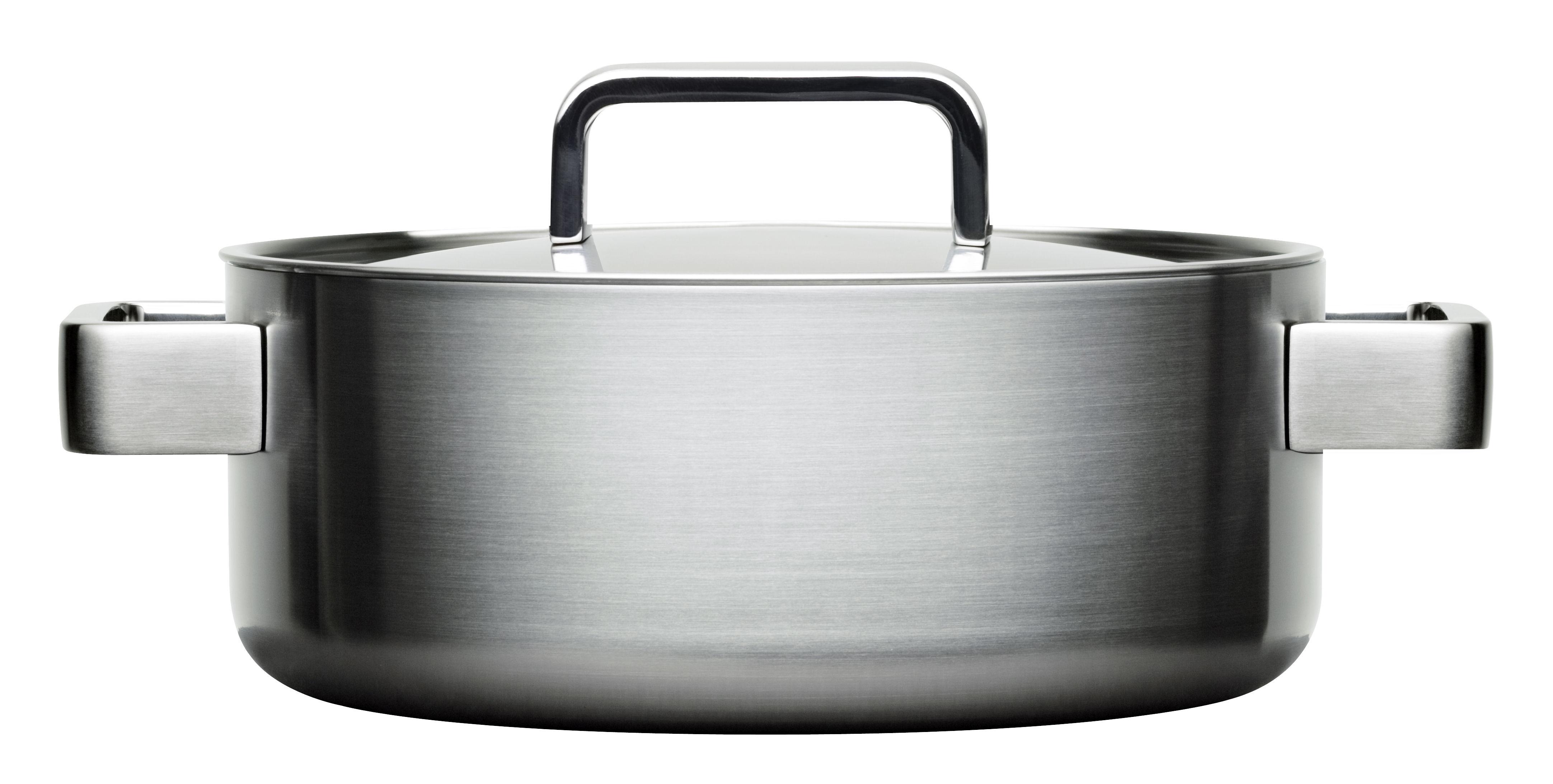 Cuisine - Casseroles, poêles, plats... - Faitout Tools / 3L - Avec couvercle - Iittala - Acier - Acier inoxydable