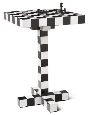 Guéridon Chess Table - Moooi blanc/noir en bois