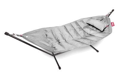Hamac Headdemock Deluxe / Tissu polyester - Avec coussin & housse - Fatboy gris clair en métal