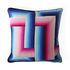 Bargello Infinity Kissen / 55 x 55 cm - Handgestickt / Wolle und Velours - Jonathan Adler