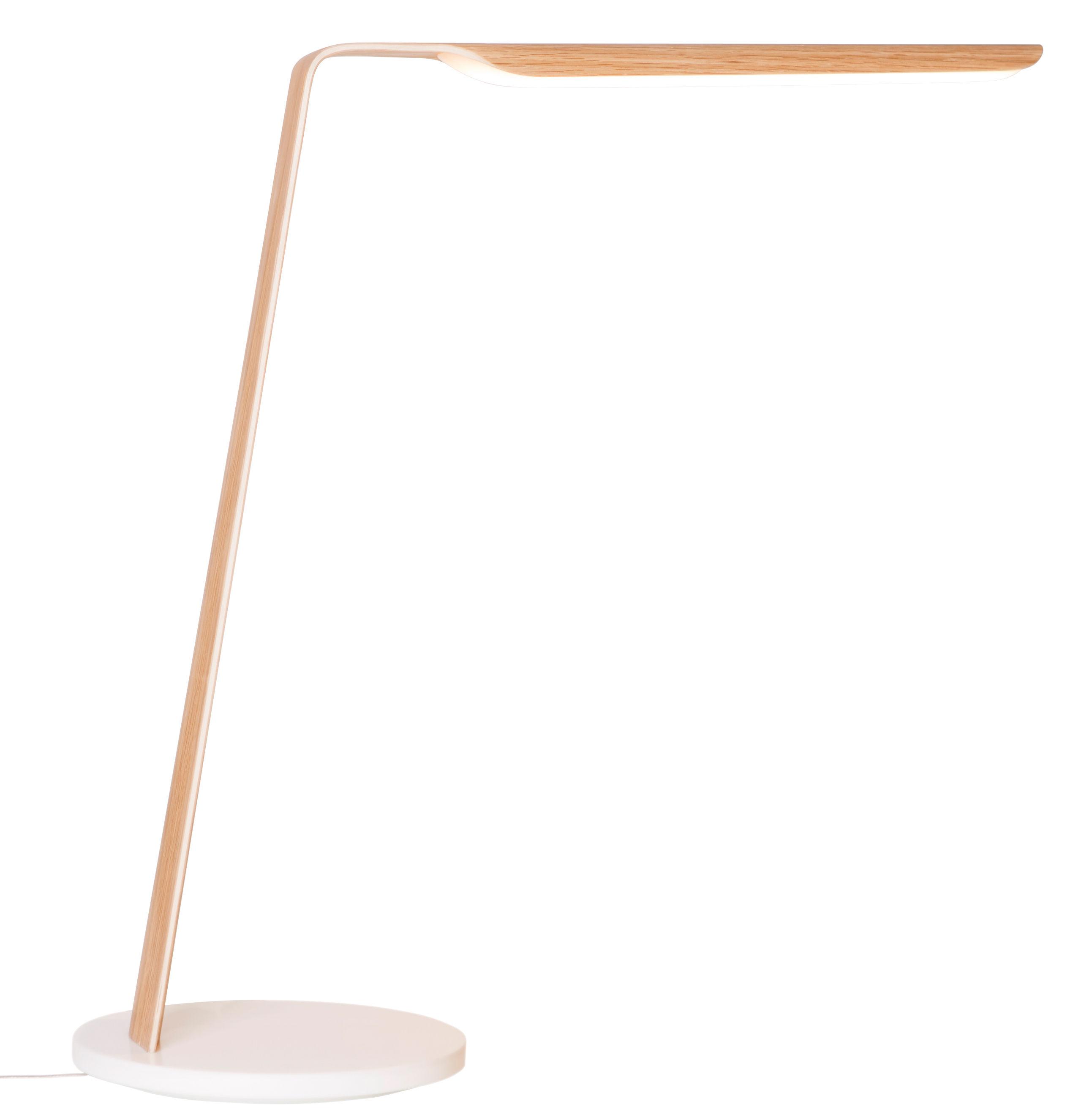 Luminaire - Lampes de table - Lampe de table Swan / H 46,5 cm - Tunto - Chêne - Chêne