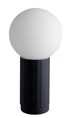 Lampe de table Turn on LED / H 19,5 cm - wrong.london noir en métal