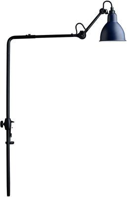 Lampe N°226 pour bibliothèque / Base étau - Lampe Gras - DCW éditions bleu,noir en métal