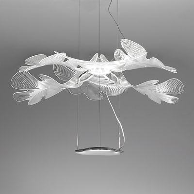 Lighting - Pendant Lighting - Suspension Chlorophilia Simple LED Pendant - / Bluetooth - Ø 77 by Artemide - Transparent - Aluminium, PMMA