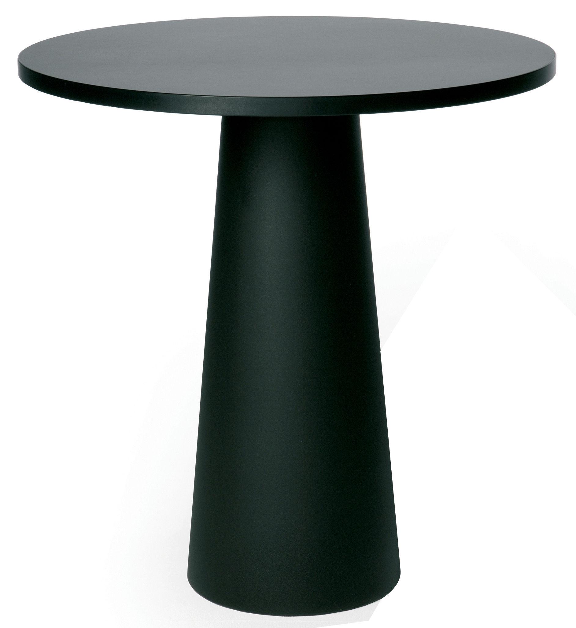 Jardin - Tables de jardin - Pied de table Container / H 70 cm - Pour plateau Ø 70 cm - Moooi - Pied noir Ø 30 x H 70 cm - Polypropylène