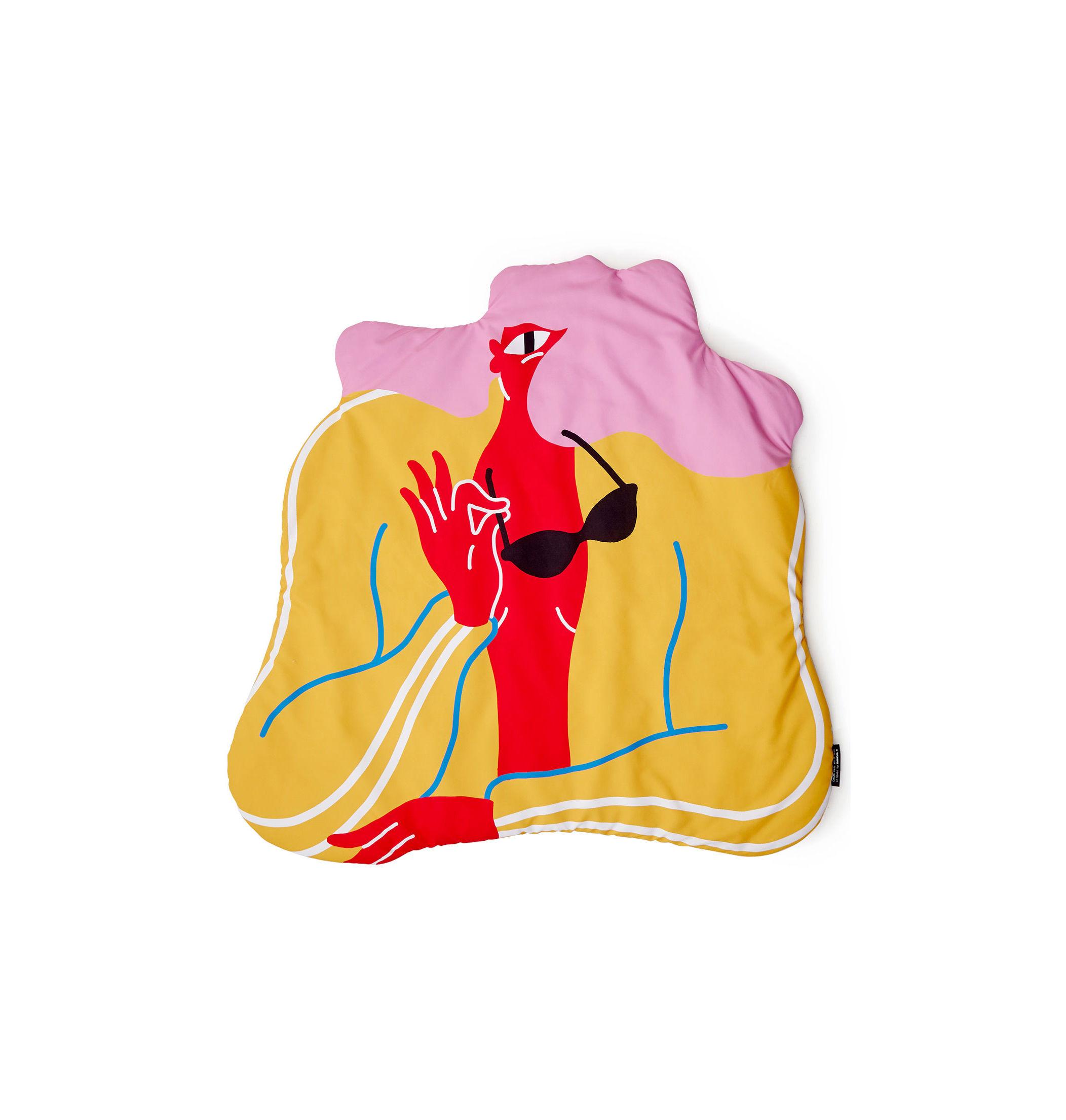 Noël design - Cadeaux Must-Have - Plaid rembourré Born Free / 119 x 116 cm - Sancal - Multicolore - Fibre synthétique, Polyester