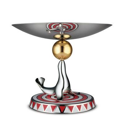 Plat de présentation The Seal Circus Edition limitée numérotée Alessi rouge,acier en métal