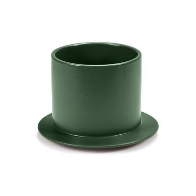 Tischkultur - Salatschüsseln und Schalen - Dishes to Dishes - Grès Platte / High - Ø 20,5 x H 14 cm - valerie objects - Grün - Sandstein