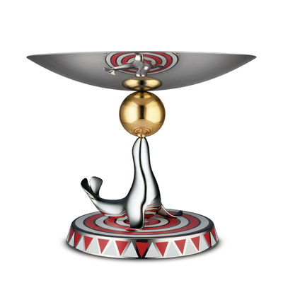 Tableware - Serving Plates - The Seal Presentation dish - / Circus - Limited, numbered edition by Alessi - Steel & red - Stainless steel